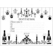XC64 Black and White Invitation (Pk 10) (LAST ONE)