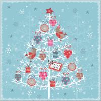 XP10 Christmas Tree on Blue (Pk 8)