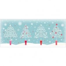 XS07 Four Christmas Trees (Pk 8)