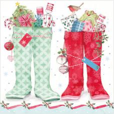 XS12 Christmas Wellington Boots (Pk 8)