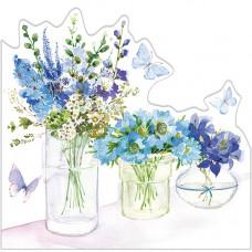 FP6003 Three Flower Jars (Blue)