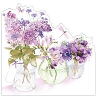 FP6005 Three Flower Jars (Purple)