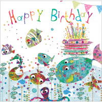 FP6016 Little Fishes (Happy Birthday)