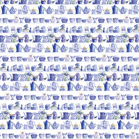 GW185 Blue and White China Gift Wrap