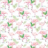 GW190 Pink Flamingos Gift Wrap