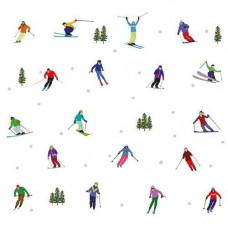 FP5088 Skiers