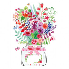 FP7059 Glass Jar of Flowers