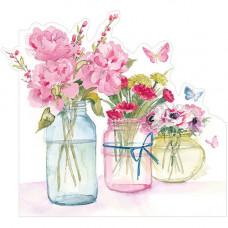 LS97 Three Flower Jars (Pink)