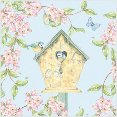 WS420 Birdhouse and Blossoms