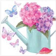 WS465 Hydrangeas and Butterflies