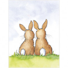 B041 Two Bunnies Gift Card