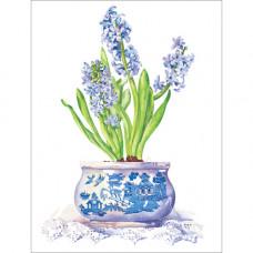 B028 Blue Hyacinths Gift Card