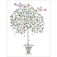 B029 Two Birds on a Tree Gift Card
