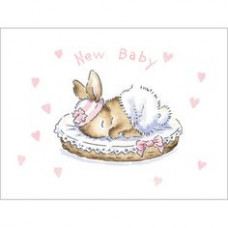 B032 New Baby Bunny (Pink) Gift Card