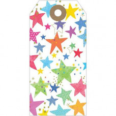 GT027 Multicoloured Stars Gift Tag