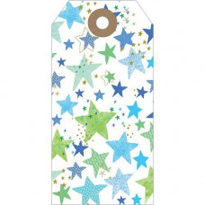 GT026 Blue Stars Gift Tag