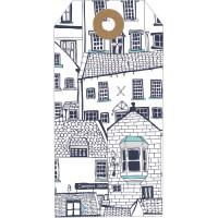 GT030 White Cottages Gift Tag