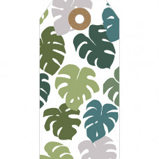 GT033 Monstera Leaves Gift Tag