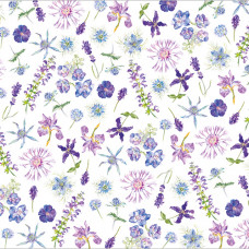 GW138 Blue Floral Gift Wrap