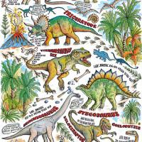 GW164 Dinosaurs  Gift Wrap