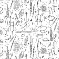 GW199 Musical Instruments Gift Wrap