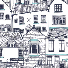 GW200 White Cottages Gift Wrap