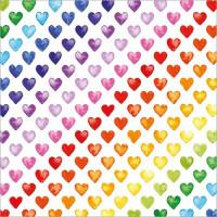 GW206 Rainbow Hearts Gift Wrap