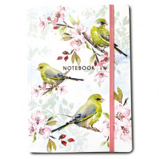 NB004 Blossom and Greenfinches A5 Notebook