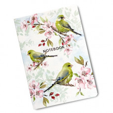 NB024 Blossom and Greenfinches A6 Notebook