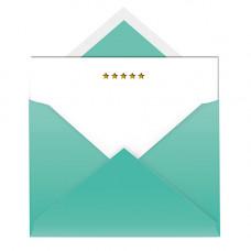 NC016 Stars Notecard & Envelope (Single)