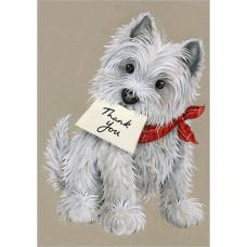 NC018 Thank You Dog Notelets (Pk 5)
