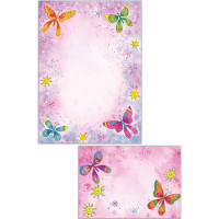 RBS21 Butterfly Stationery Set (10 x Notepaper + Envelopes)