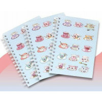 NOTEBOOK03 China Cups Spiral Bound NoteBook