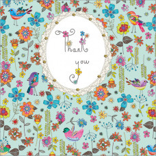 FP5136 Flowers & Little Birds (Thank You)
