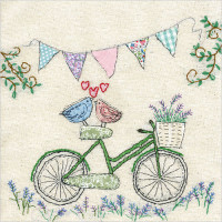 WS442 Lovebirds on a bicycle