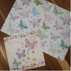 CGW001 Pretty Butterflies Card & Gift Wrap Set