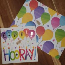 CGW005 Hip Hip Hooray Card & Gift Wrap Set
