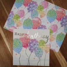 CGW007 Fun Balloons Card & Gift Wrap Set