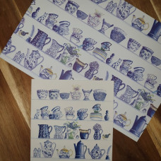 CGW008 Blue and White China Card & Gift Wrap Set
