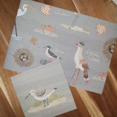 CGW010 Decorative Birds Card & Gift Wrap Set